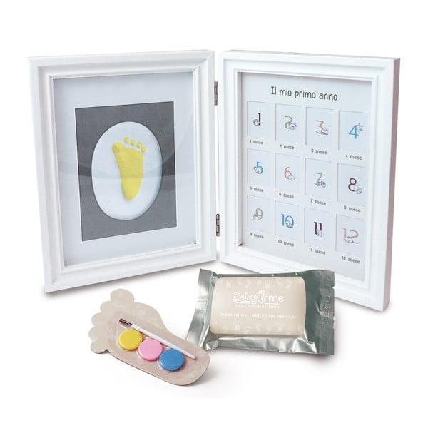 Rámik na odtlačok detskej ručičky s 12 fotorámikmi a farbami Tnet Clay Frame