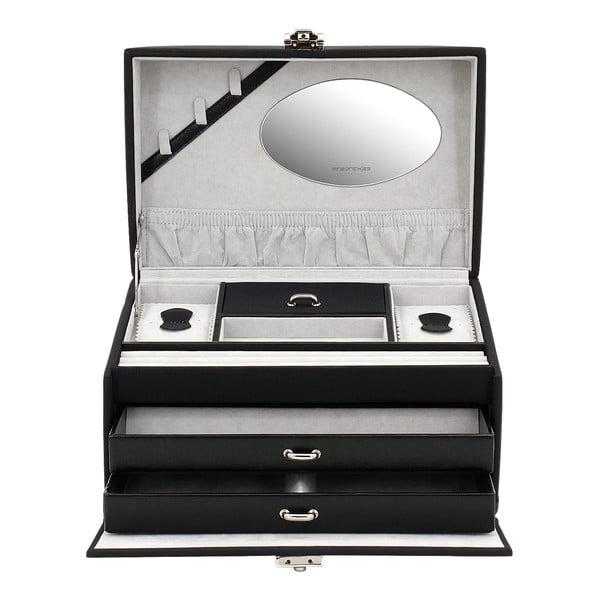 Šperkovnica Copenhagen Black, 24x16x15,5 cm