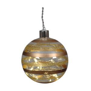 Sada 2 sklenených vianočných gulí zlatej farby Naeve, Ø 10 cm
