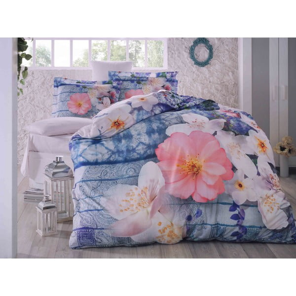 Obliečky s plachtou Blue Spring, 200x220 cm