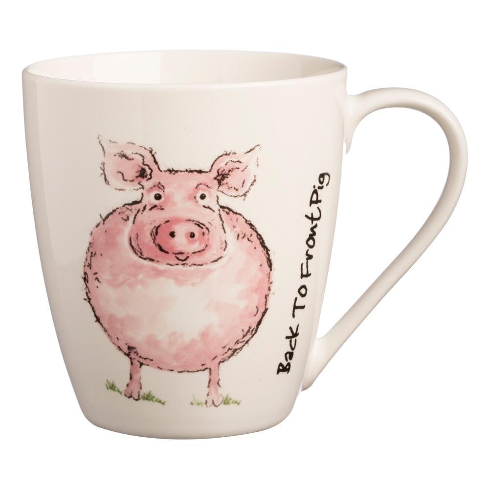 Hrnček s motívom prasaťa z porcelánu Price & Kensington B2F Pig, 340 ml