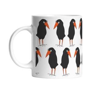 Keramický hrnček Black Birds, 330 ml