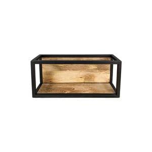 Nástenná polica s detailom z mangového dreva HSM collection Caria, 55×25 cm