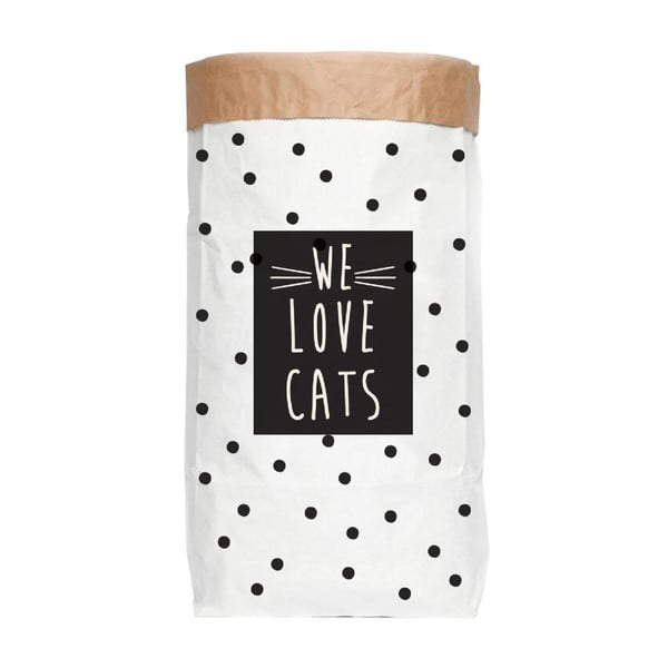 Papierové úložné vrece Really Nice Things Love Cats