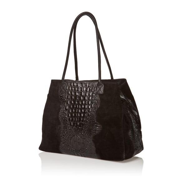 Kožená kabelka Anabela, čierna