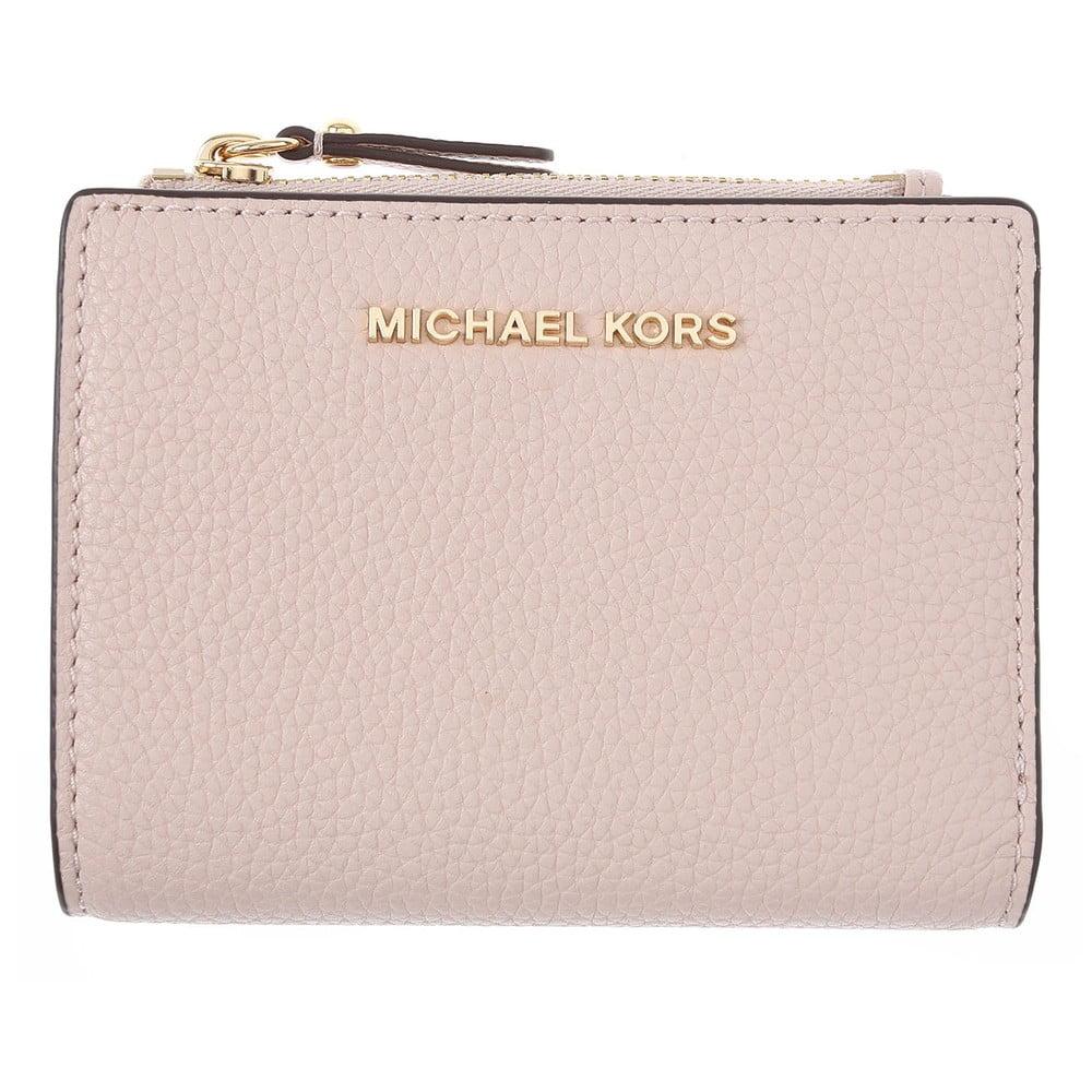 Svetloružová kožená peňaženka kabelka Michael Kors Pretty