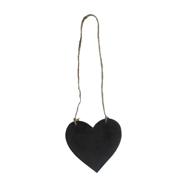 Závesná tabuľa na písanie v tvare srdca Antic Line Heart