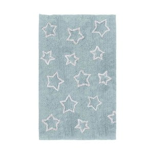 Modrý detský koberec Tanuki White Stars, 120×160cm