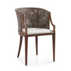 Stoličky z dreva z cédrového dreva a ratanu Moycor