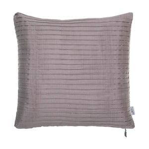 Plisovaná obliečka na vankúš Apolena, ružovosivá