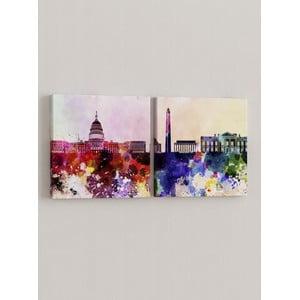Sada 2 obrazov Farebné mesto