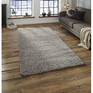 Koberec v striebornej farbe Think Rugs Loft, 160×230cm