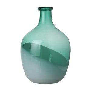 Zelená váza Athezza Bicolour, výška 29cm