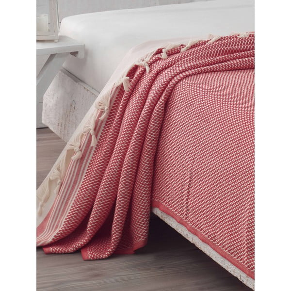 Prikrývka na posteľ Hasir Red, 200x240 cm