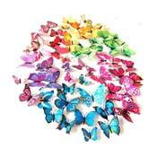 úDekoratívna samolepka Duhové motýle, 48 ks
