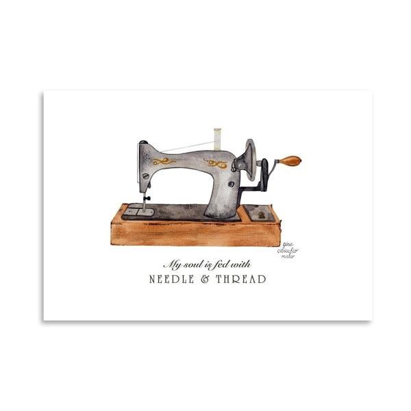 Autorský plagát Sewing Machine, 30x42 m