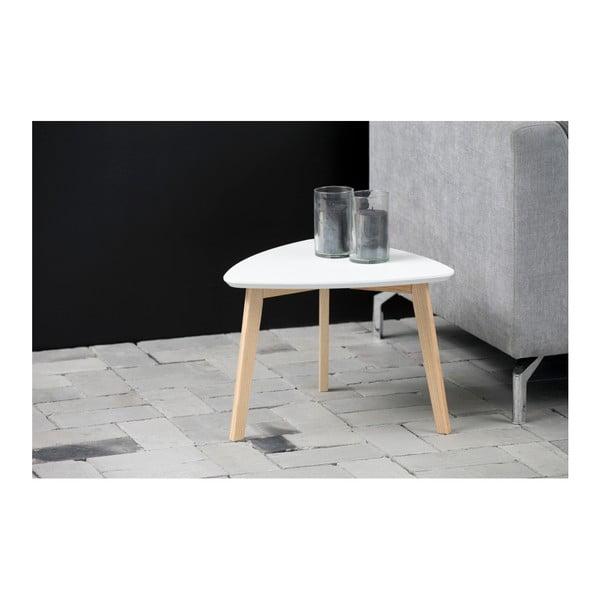 Biely odkladací stolík Actona Vitis, výška 36 cm
