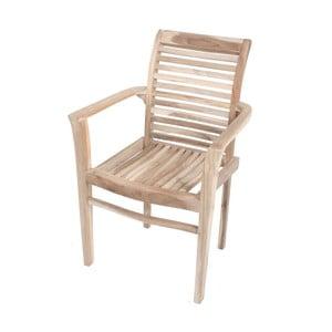 Záhradná stohovateľná stolička z teakového dreva ADDU Java