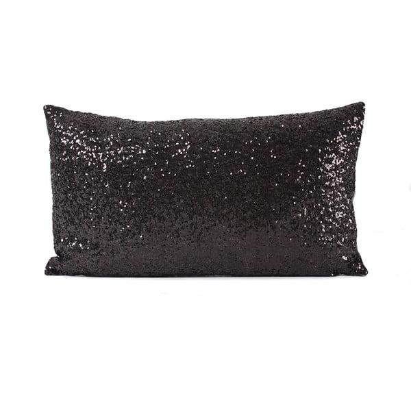Flitrovaný vankúš Shiny Black, 33x57 cm
