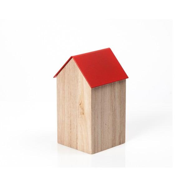 Červený úložný box House Medium