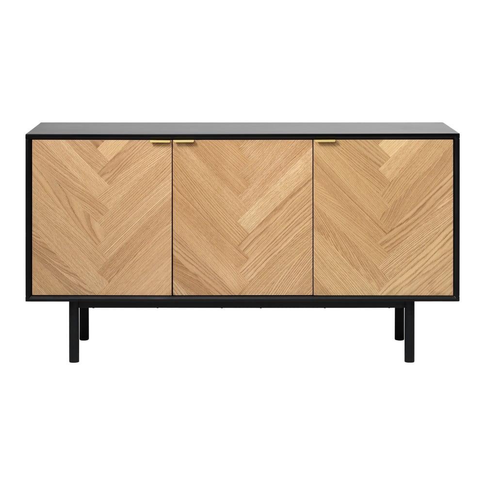 Nízka komoda v dubovom dekore Unique Furniture Calvi