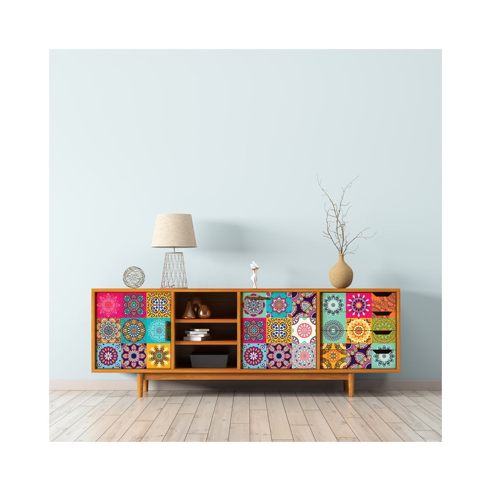 Sada 30 samolepiek na nábytok Ambiance Tiles Stickers For Furniture Lopez, 20 × 20 cm