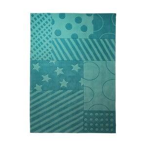 Koberec Esprit Stars Stripes Turquoise, 90x160 cm