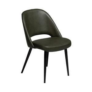 Tmavozelená jedálenská stolička z eko kože DAN–FORM Denmark Grace