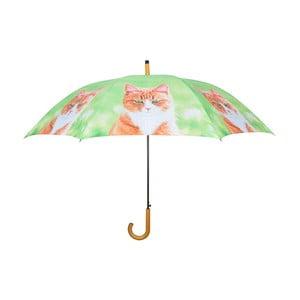Svetlozelený dáždnik s mačkami Esschert Design
