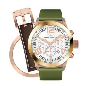 Dámske hodinky Marc Coblen s remienkom a krúžkom na ciferník naviac P90
