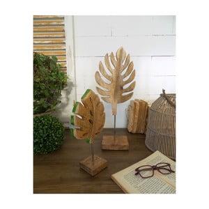 Sada 2 dekorácií z mangového dreva Orchidea Milano