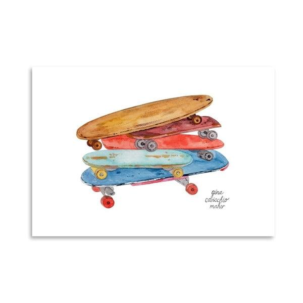 Autorský plagát Skate Boards, 30x42 m