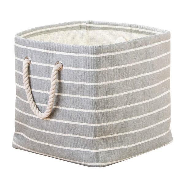 Sivý úložný box InterDesign Luca, 29,5×29,5 cm
