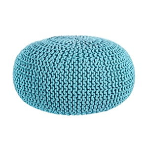Puf Interccio Light Blue, 80x35 cm