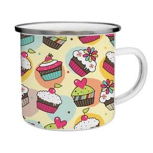 Smaltovaný hrnček Cupcake TinMan, 200 ml