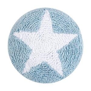 Modrý bavlnený vankúš Happy Decor Kids Star, ⌀ 30cm