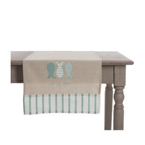 Behúň na stôl Mer Blue, 140x45 cm