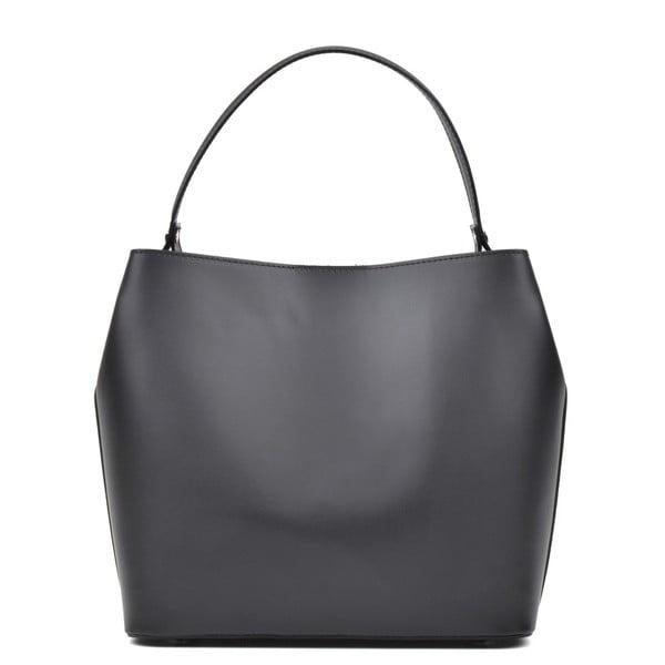 Čierna kožená kabelka Luisa Vannini Rena