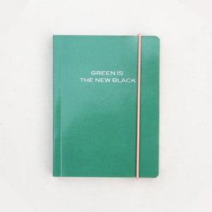 Zelený zápisník Caroline Gardner Green is the New Black, 320 strán