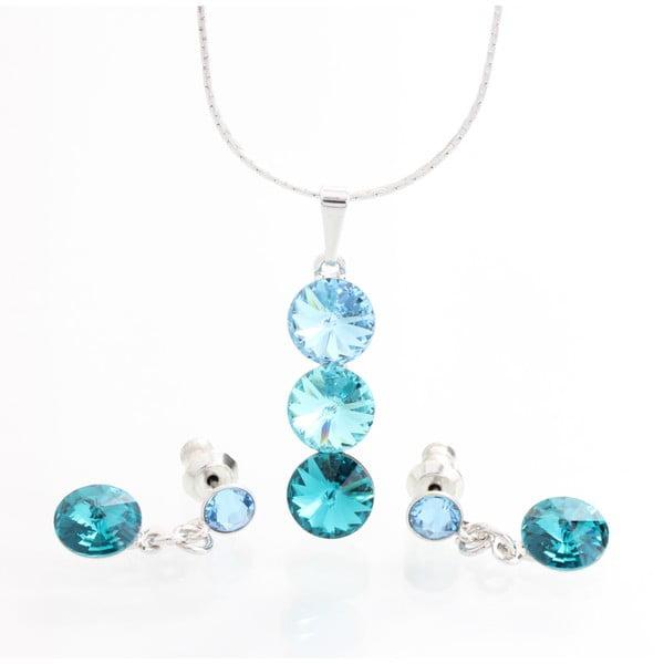 Set náhrdelníka a náušníc Laura Bruni Three Blue