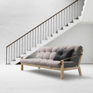 Rozkladacia sofa Poetry Natural, gris/dark gris