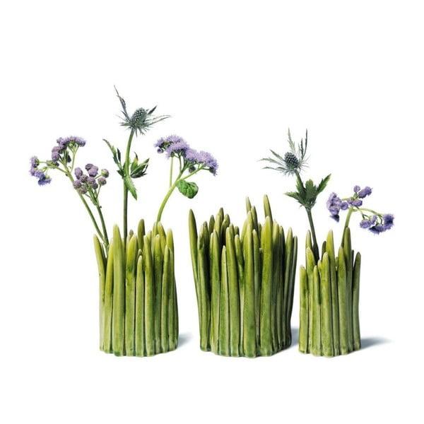 Kameninová váza Grass, dva otvory na kvety
