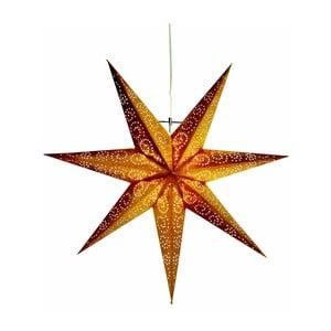Závesná svietiaca hviezda Best Season Antique Gold, 60 cm