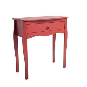Červený konzolový stolík zborovicového dreva SOB Oculus