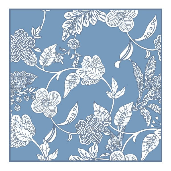 Sada 2 prestieraní Blue Flowers, 20x20 cm