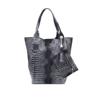 Kožená kabelka Marissa, čierna