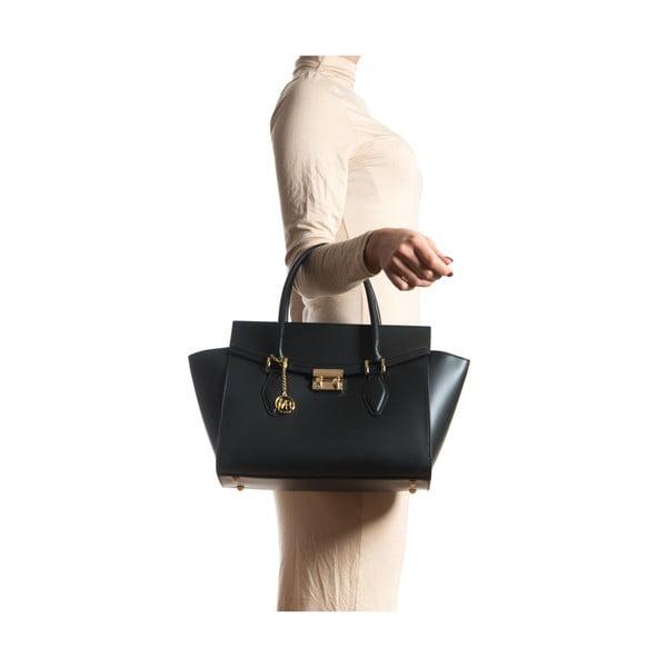 Čierna kožená kabelka Sofia Cardoni Riccarda