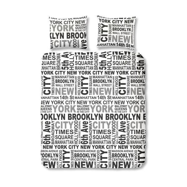 Obliečky New York Grey, 140x200 cm