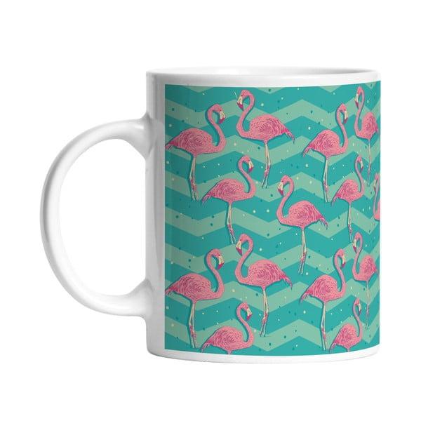 Keramický hrnček Flamingo Birds, 330 ml