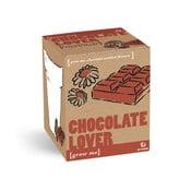 Pestovateľský set so semienkami kvetín s vôňou čokolády Gift Republic Chocolate Lover